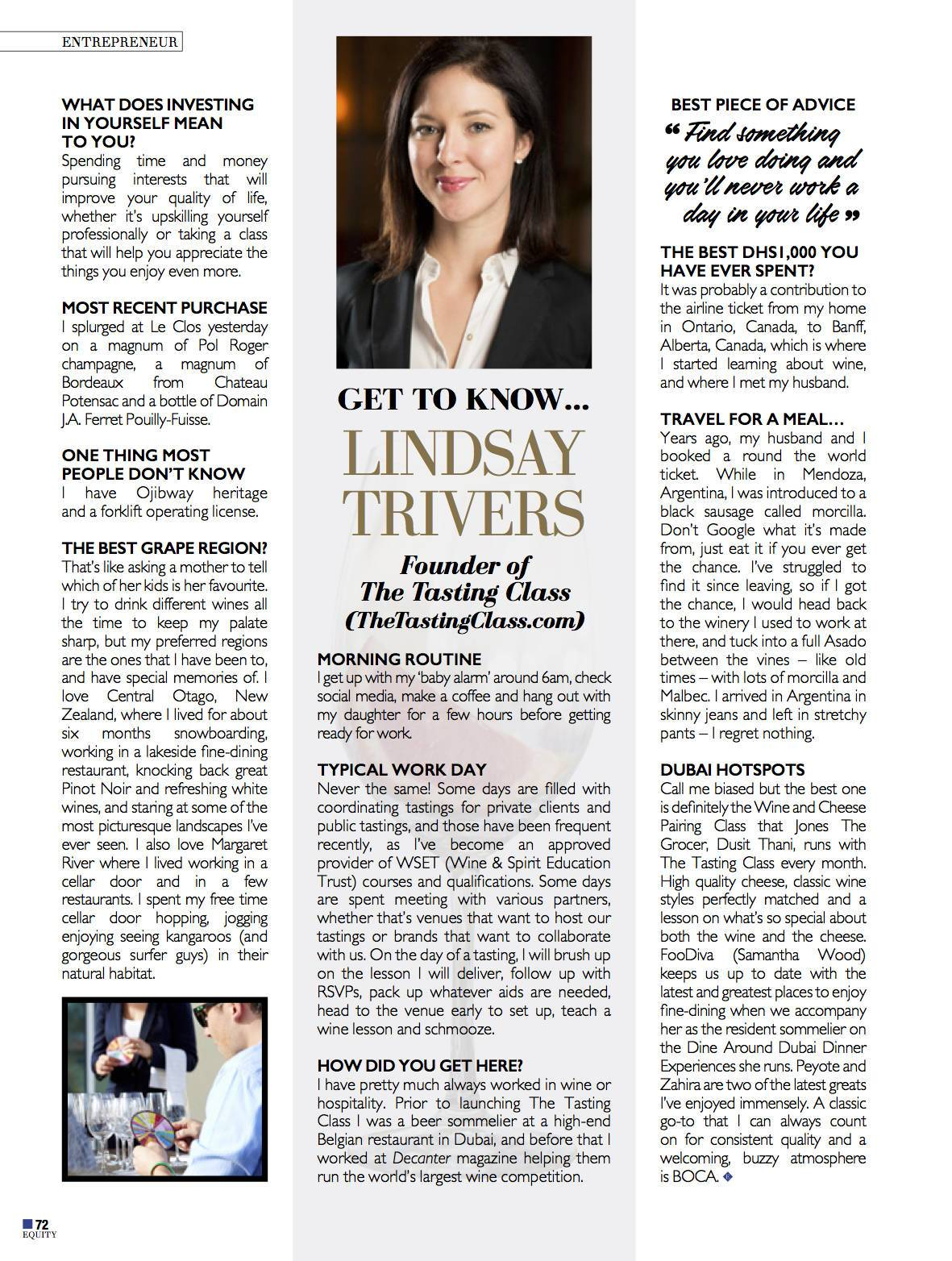 Get to Know Lindsay Trivers From The Tasting Class